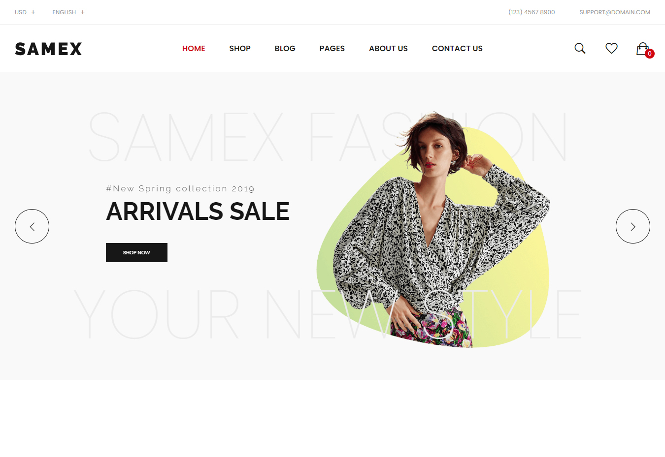 Samex Clean Unique WooCommerce WordPress Theme