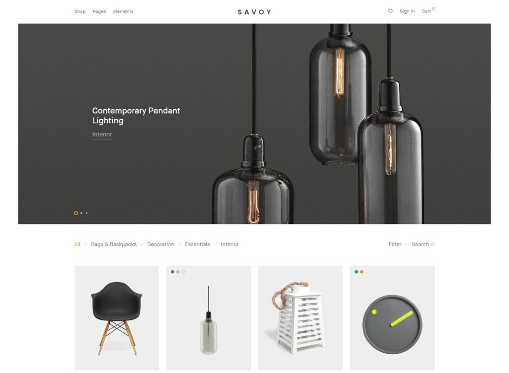 Savoy Premium Minimal Shop Theme for WooCommerce