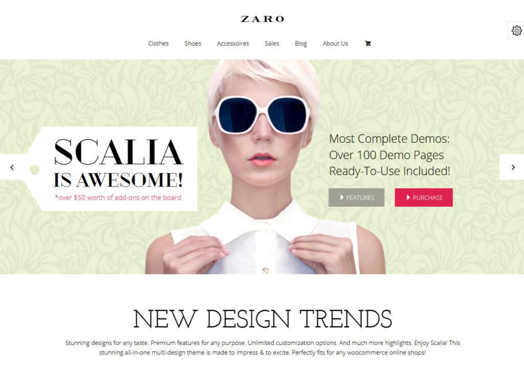 Scalia Single Page Parallax Landing Page WordPress Theme