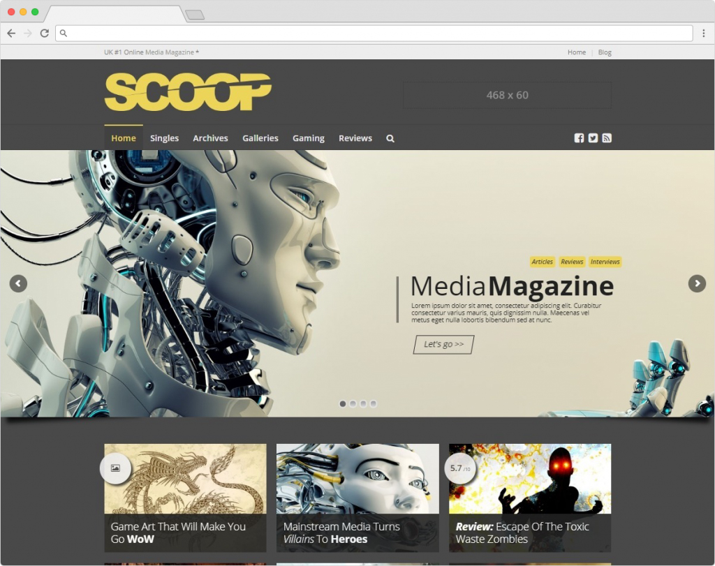 Scoop WordPress Journal And Magazine Reviewing Theme