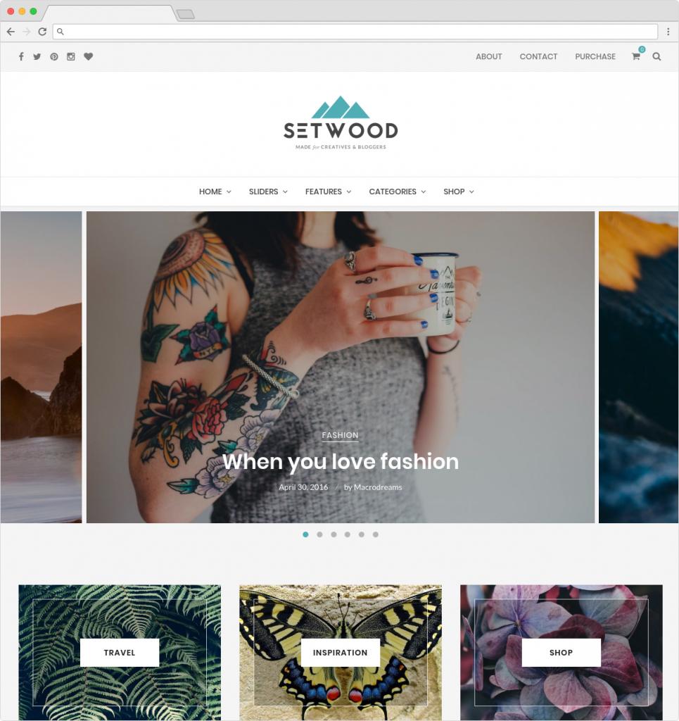 Setwood Minimal Lifestyle And Travel Blogger Theme