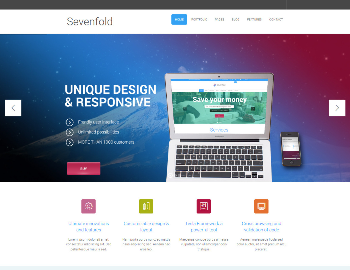 Sevenfold Creative Flat WP Agency Theme