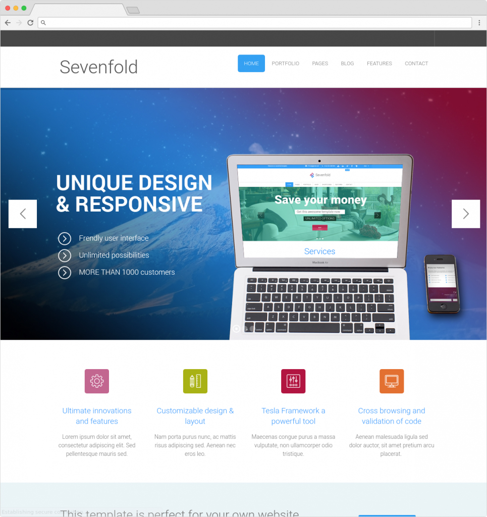 Sevenfold Unique And Responsive Multi Concept Business Theme