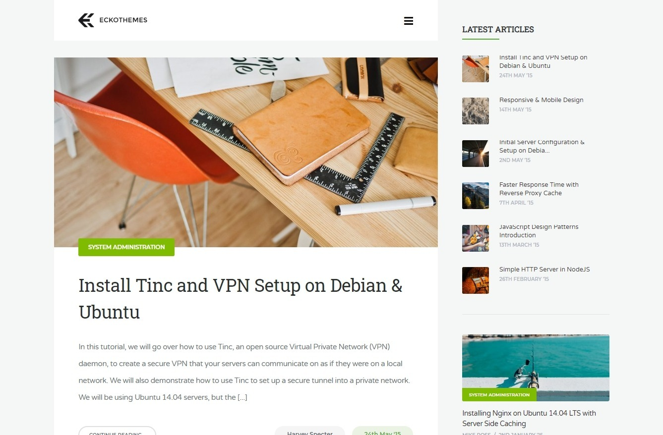 Severn WordPress Theme for Medium Style Multi Author Blogs