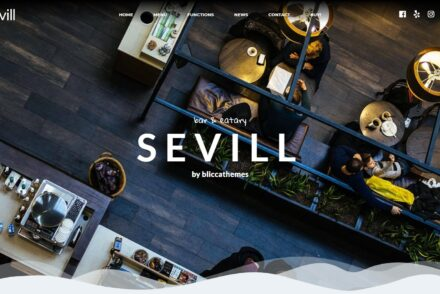 Sevill Coffee House and Cafe WordPress Theme