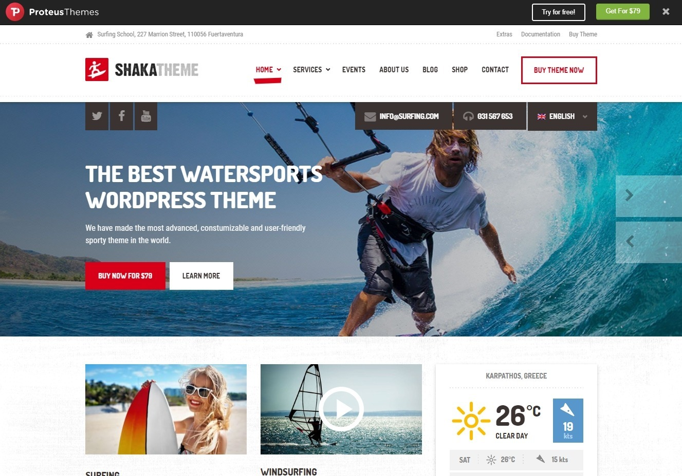 Shaka Premium WordPress Outdoor Sports Theme
