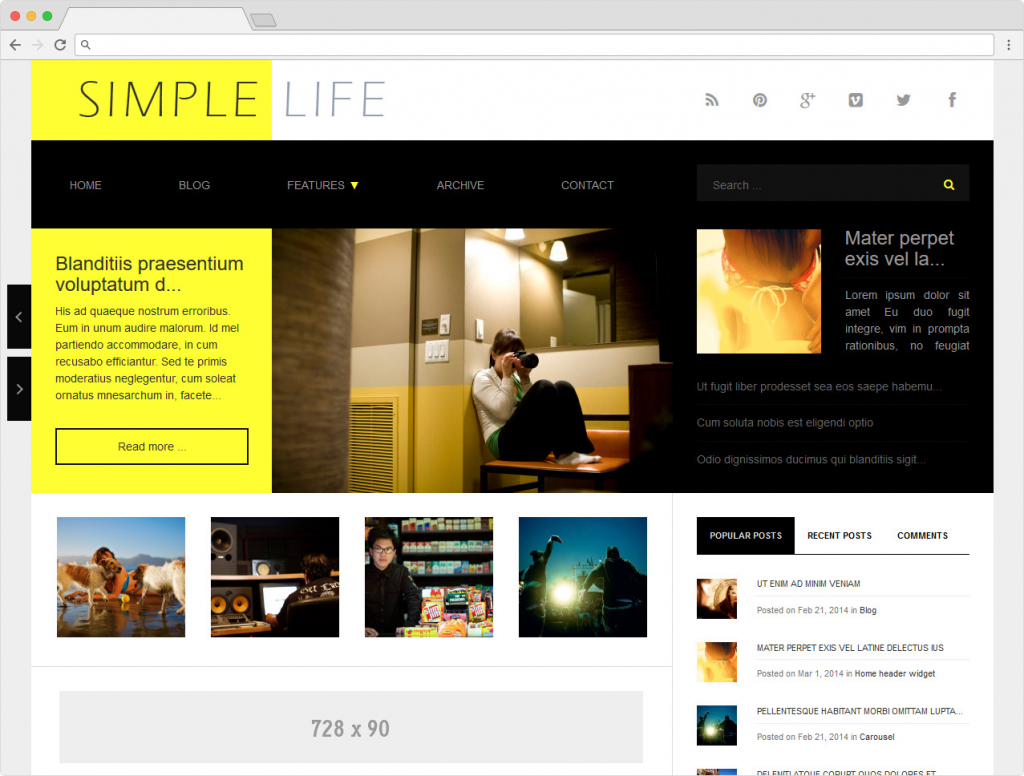 Simple Life Content Marketing Blog For WordPress