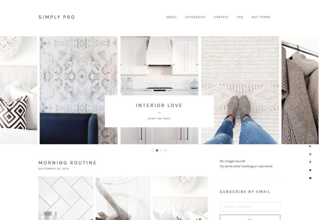 Simply Pro WordPress Theme for Photo Portfolios