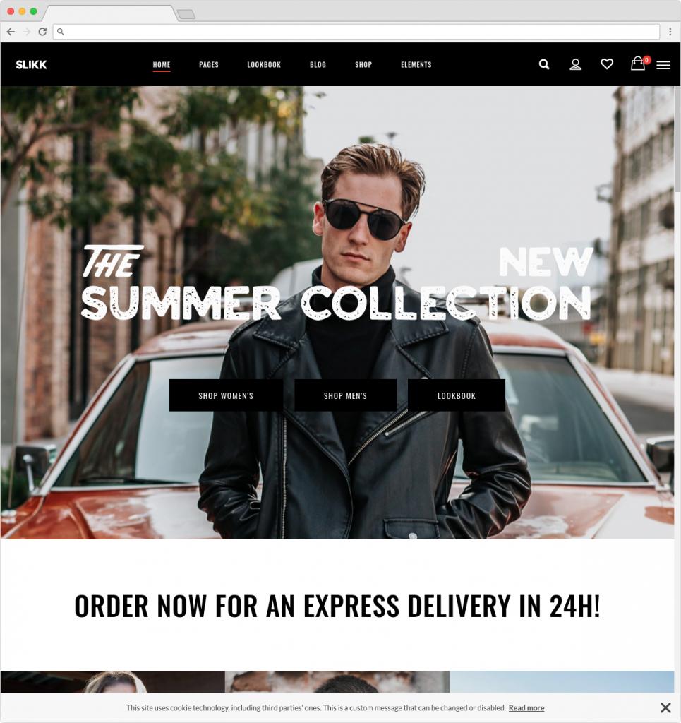 Slikk WooCommerce Theme With Bold Style