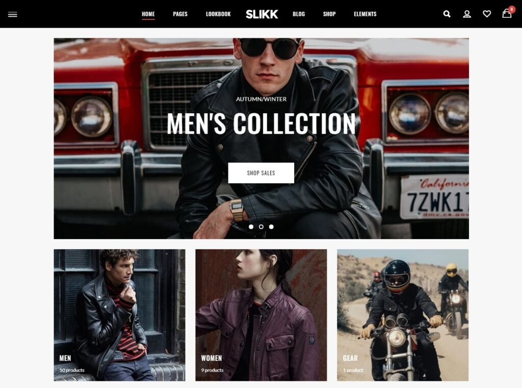 Slikk WordPress WooCommerce Theme with Lookbook