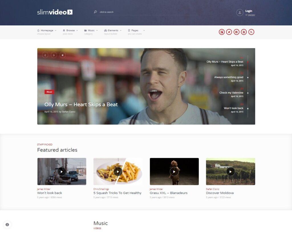 SlimVideo Video Blogging WordPress Theme
