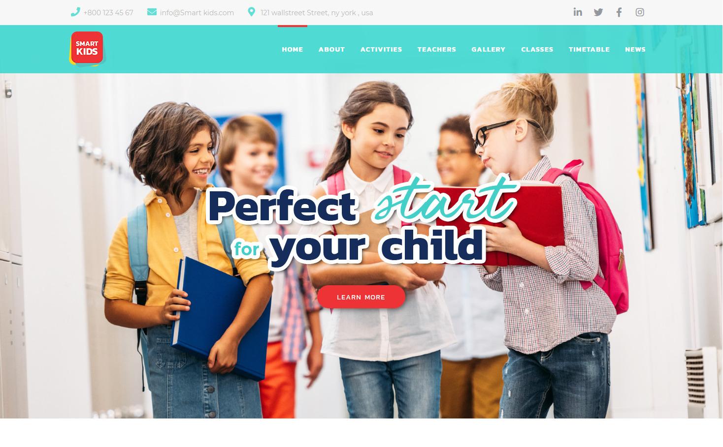 Smart Kid WordPress Childrens Education Themes
