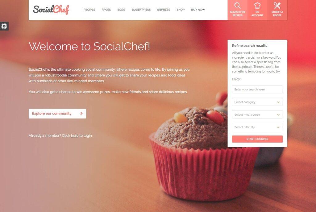SocialChef Recipe Blog WordPress Theme
