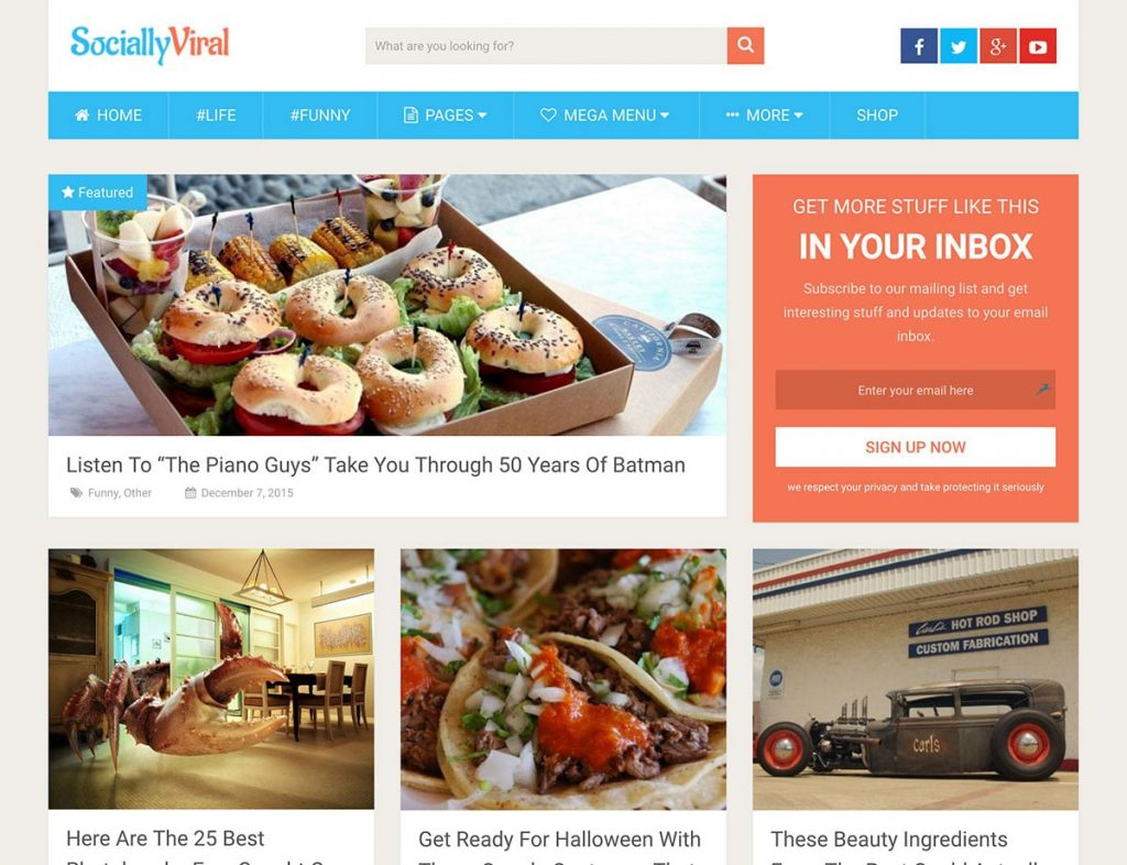 Socially Viral WordPress Social Media Engagement Theme