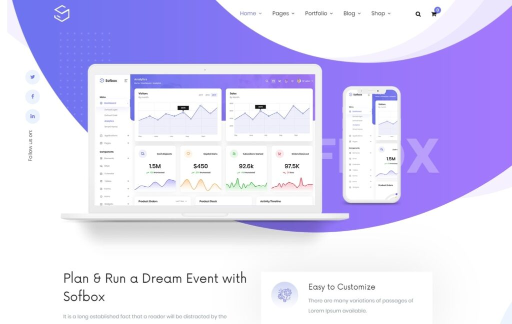 Sofbox Tech and SaaS Multipurpose Software Landing Page