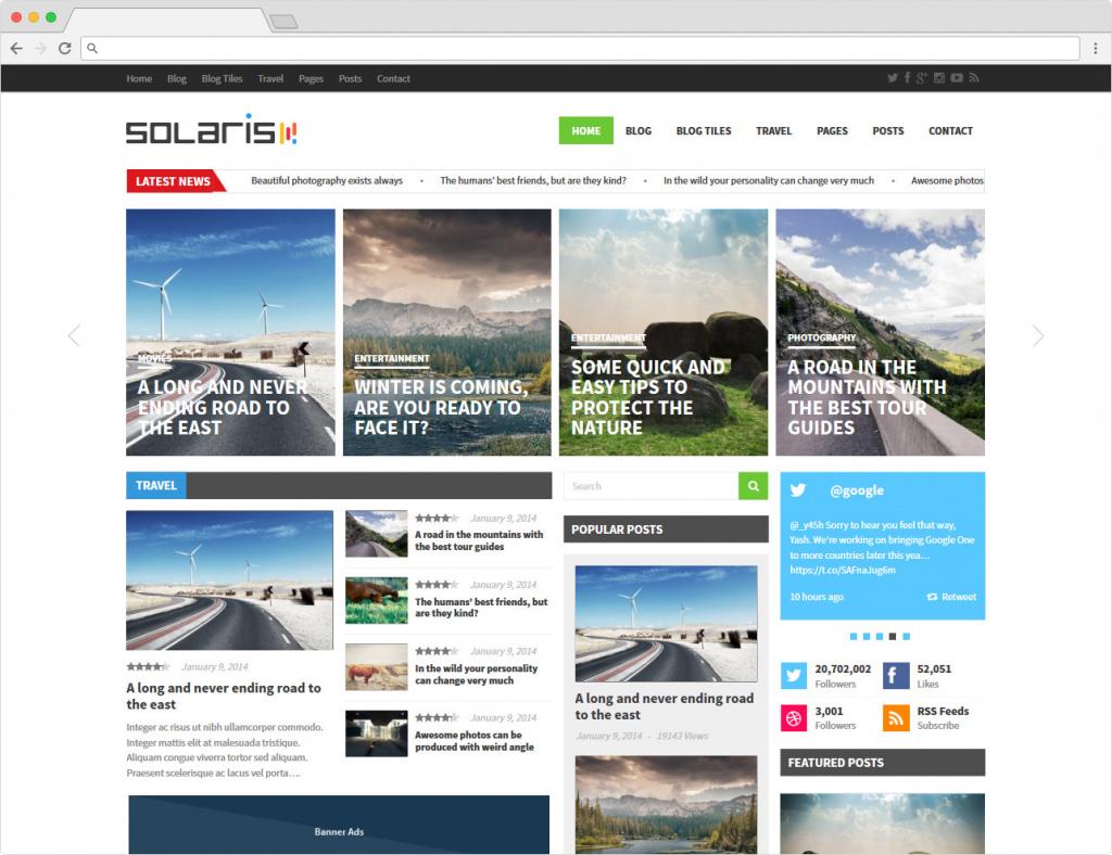 Solaris Premium Star Reviews WordPress Theme