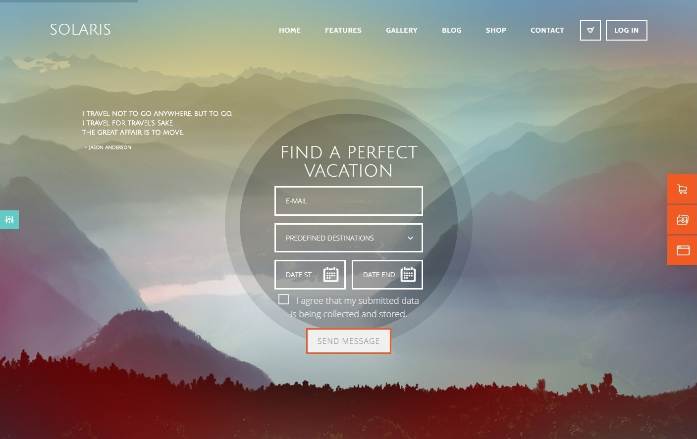 Solaris WordPress Theme for Travel Agents and Tourism