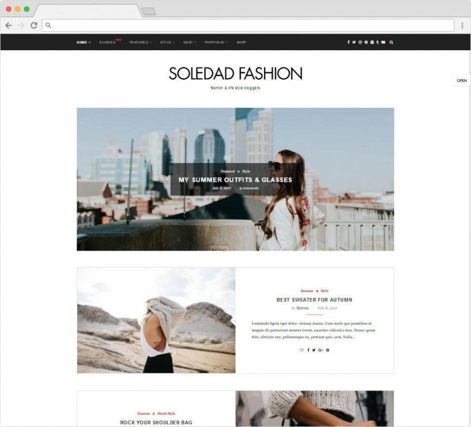 Soledad Personal Blog And Powerful Writing Theme