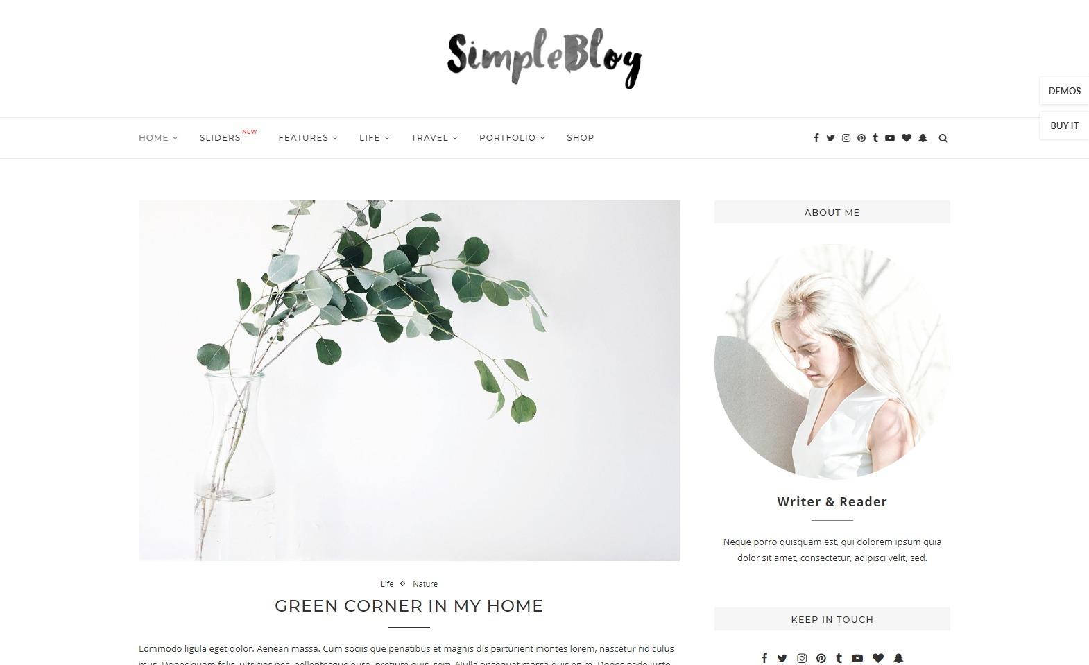 Soledad Simple WordPress Minimalist Blogging Theme