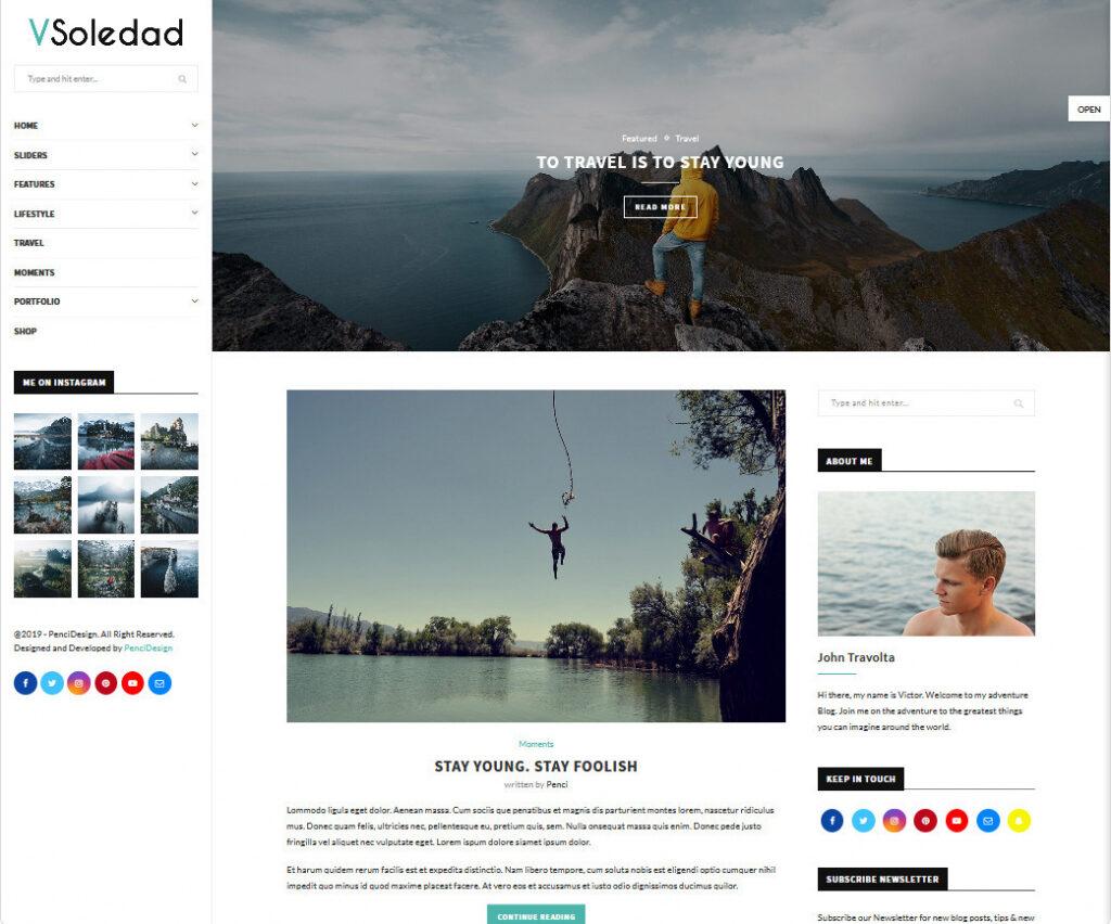 Soledad Video Blog WordPress Theme