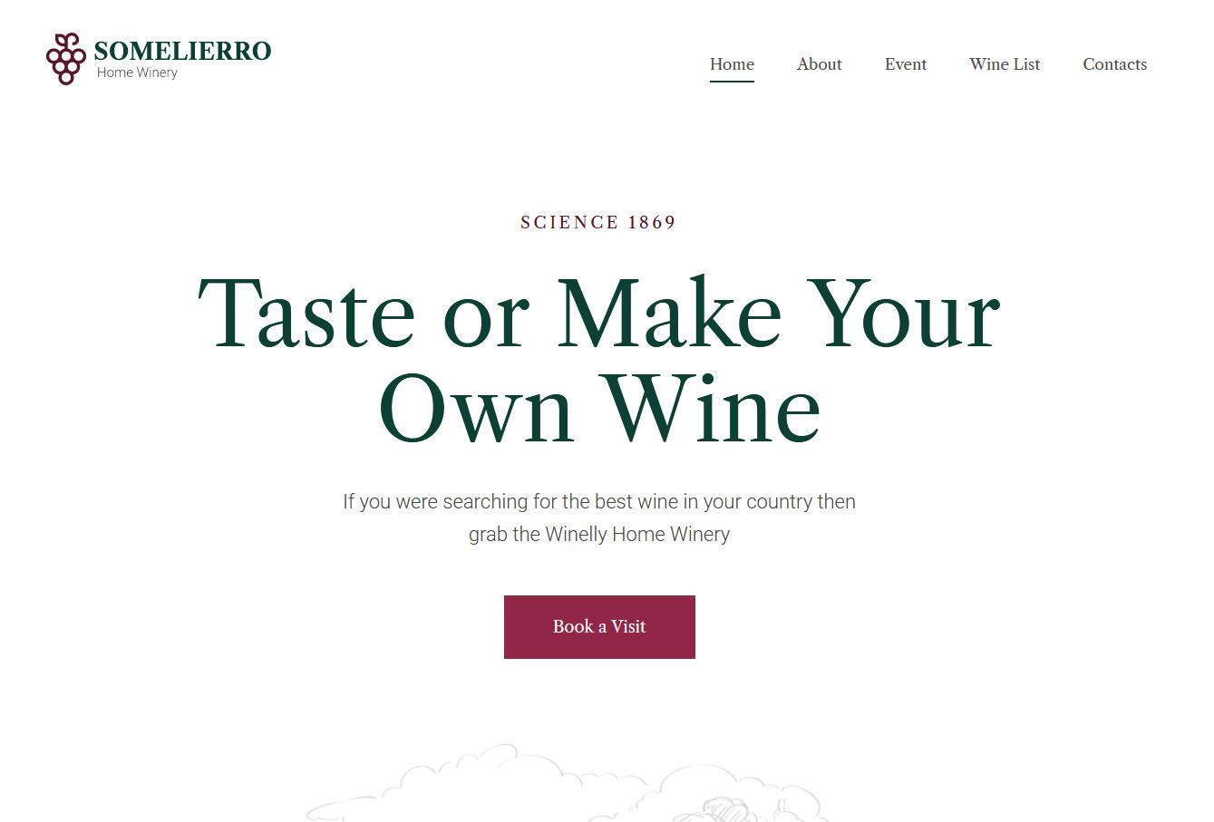 Somelierro, WordPress Wine Tasting Theme
