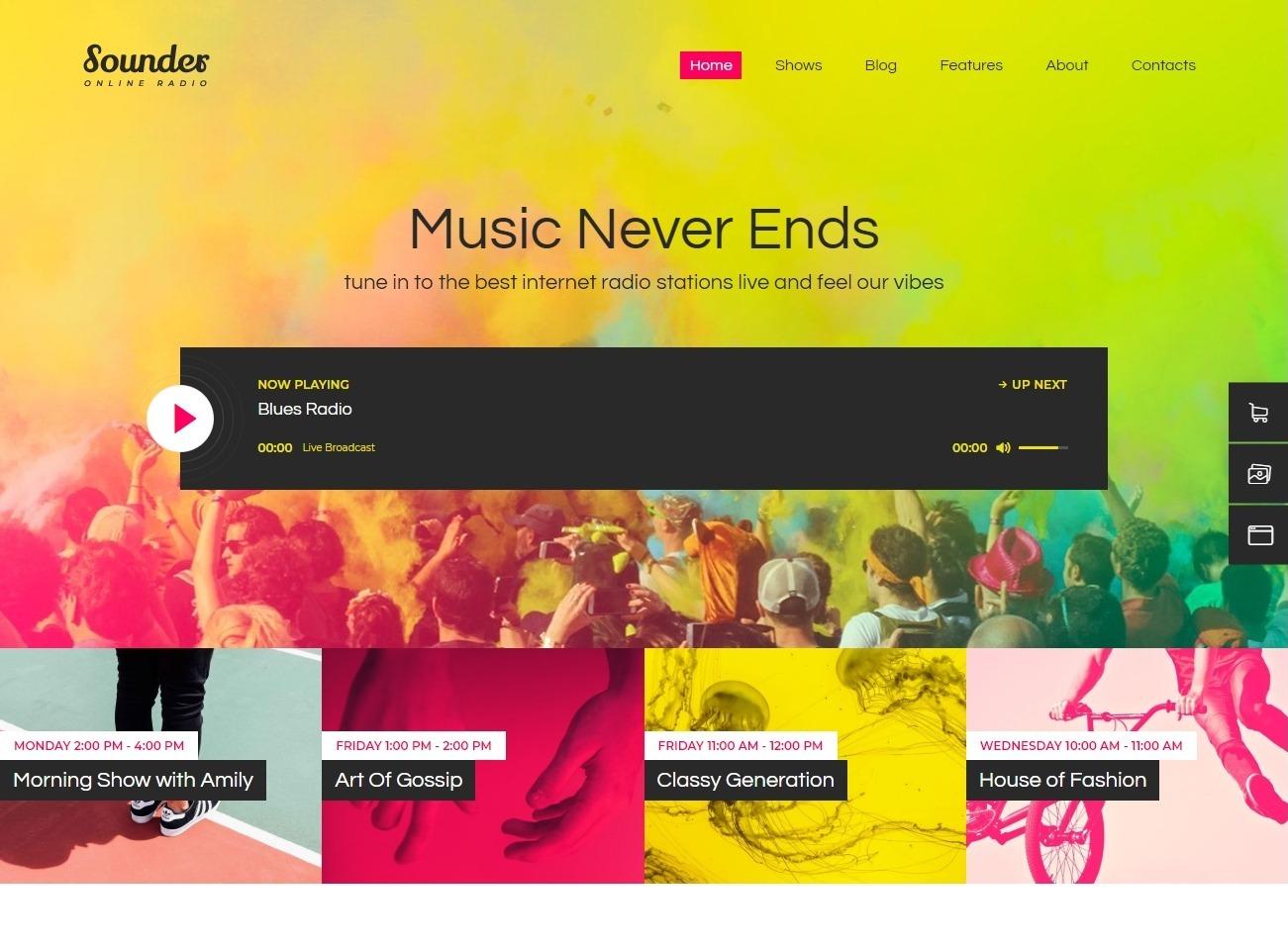 Sounder Radio Station WordPress Theme