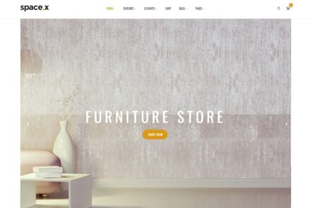 Space Interior Decorator and Furniture Store Theme