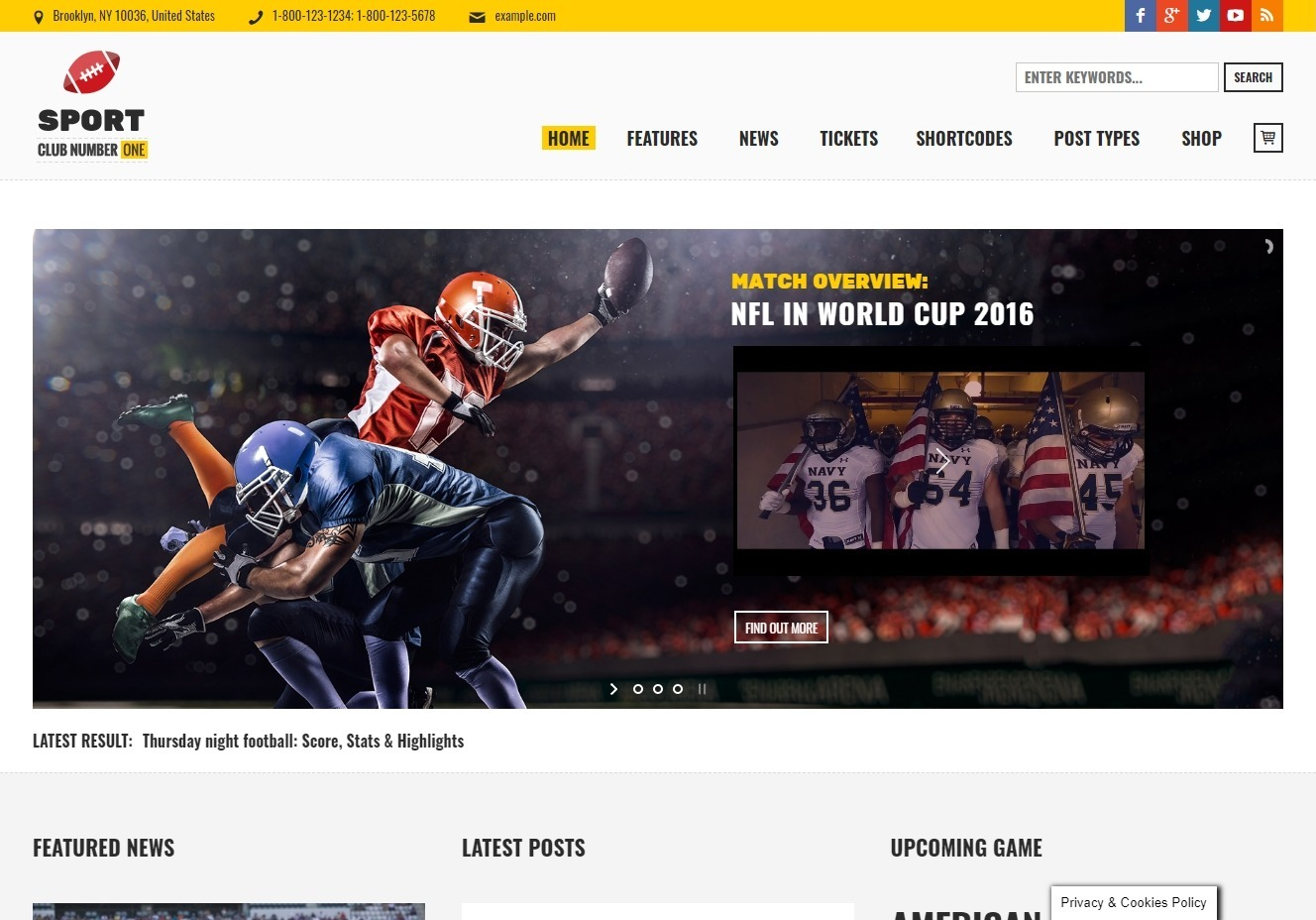 Sports Club WordPress Sports Magazine Theme