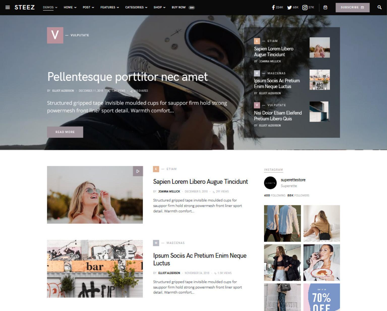 Squaretype Modern Blog WordPress Theme