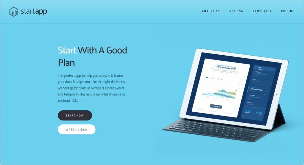 Start App WordPress Theme For Promotion Of Apps