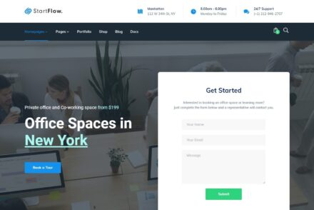 StartFlow Coworking Space WordPress Themes