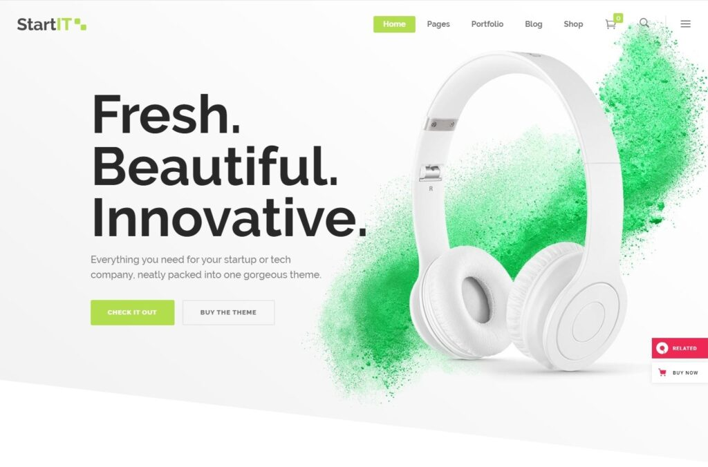 StartIT WordPress Theme for Software Services