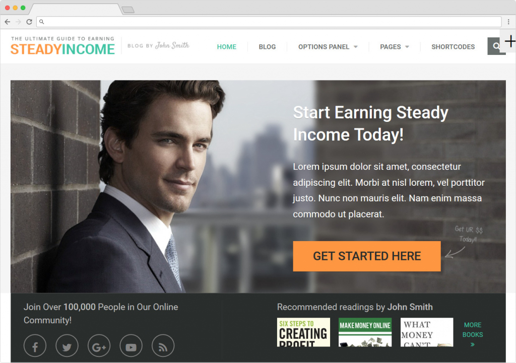 Steady Income Affiliate Marketing SEO Optimized Theme