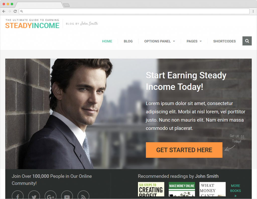 SteadyIncome WordPress Content Marketers Business Theme