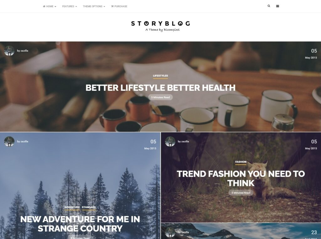 StoryBlog WordPress Theme Licensed GPL