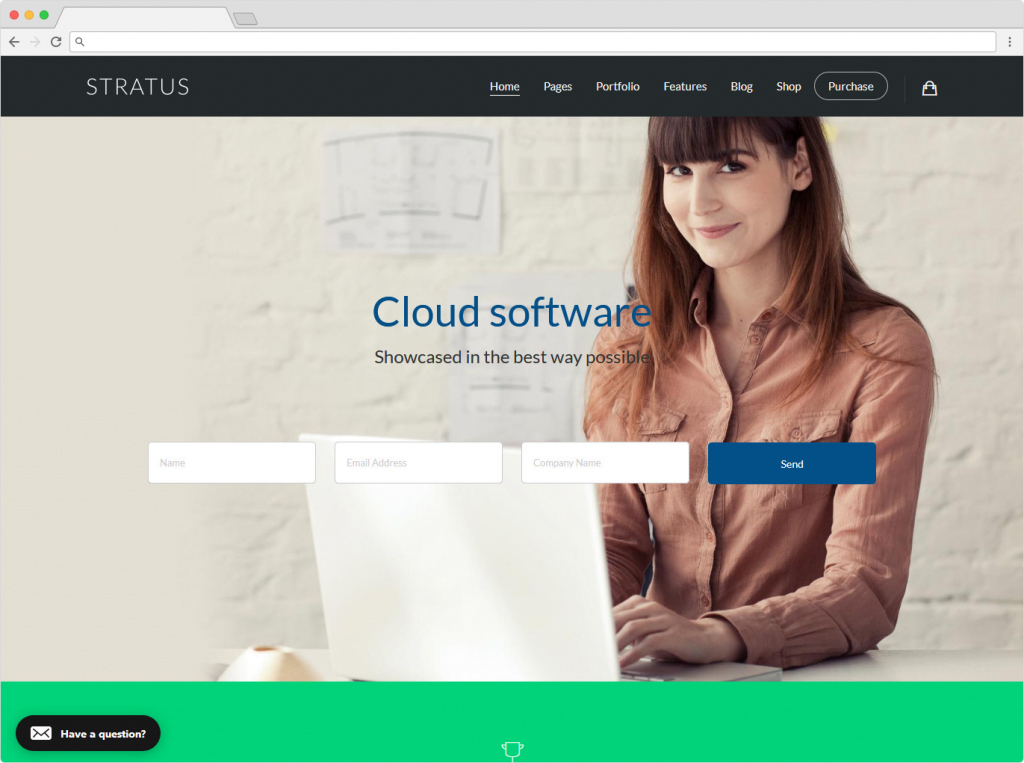 Stratus Bootstrap Business Startup Landing Page Theme