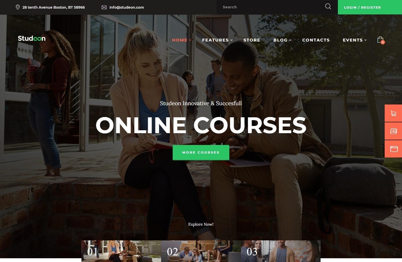 Studeon Education WordPress Theme