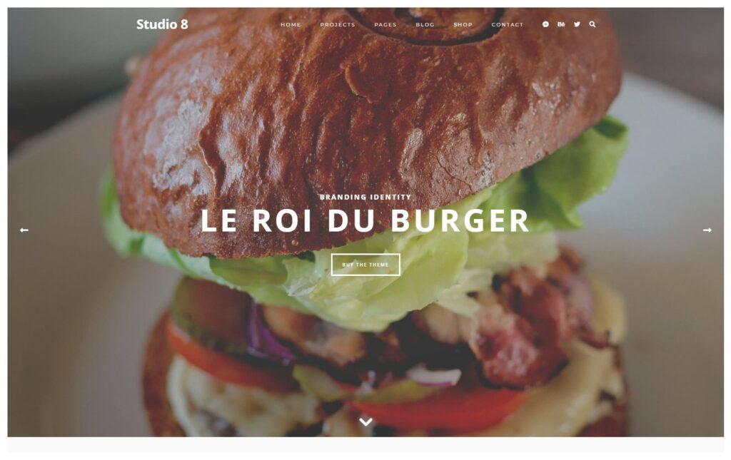 Studio 8 Clean Agency Portfolio WordPress Theme