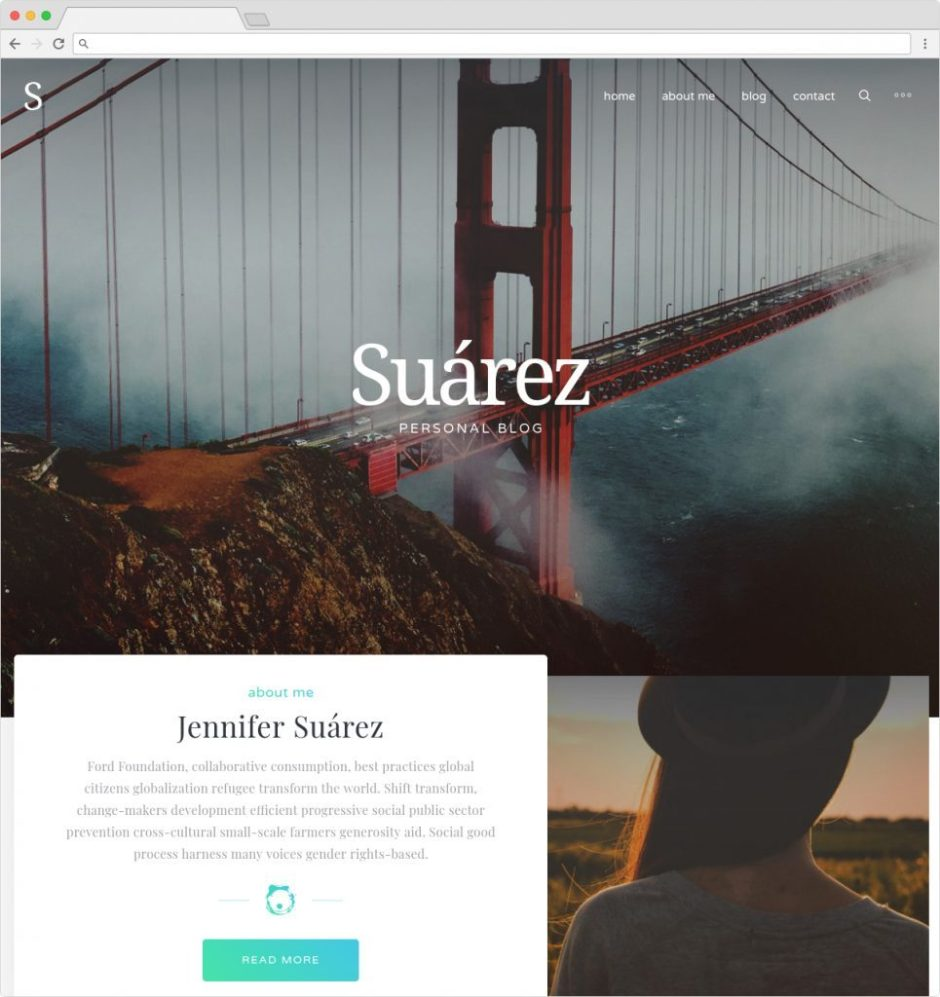 Suarez Clean Minimal Journal Theme