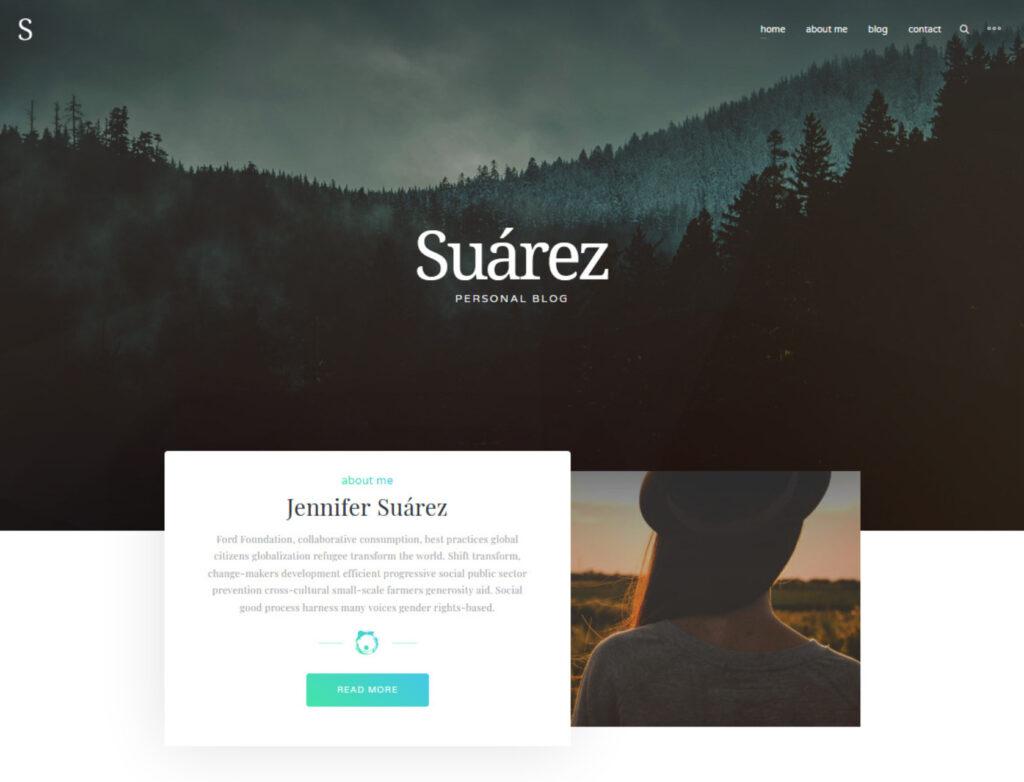 Suarez Clean Modern Professional Blogging Template