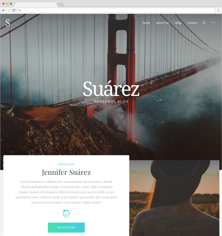 Suarez SEO Friendly Personal Blog or Lifestyle Blogging Theme