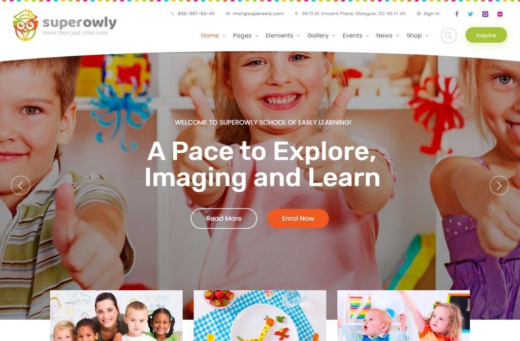 Superowly WordPress Kids Theme