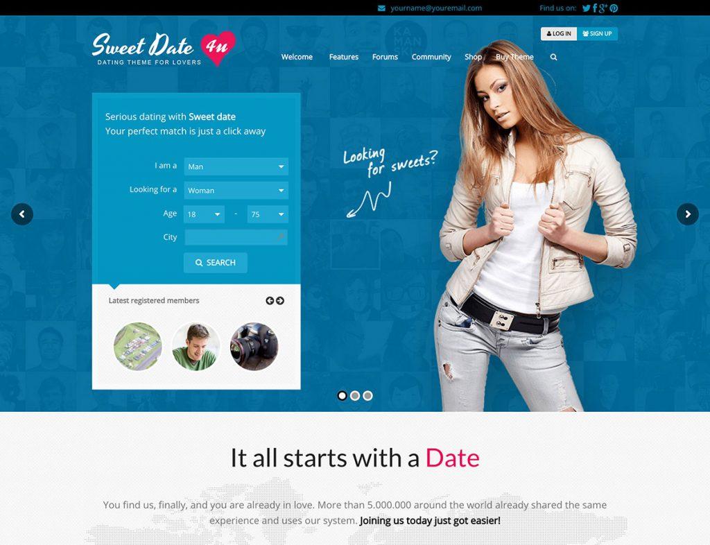 Sweet Date WordPress Dating Theme