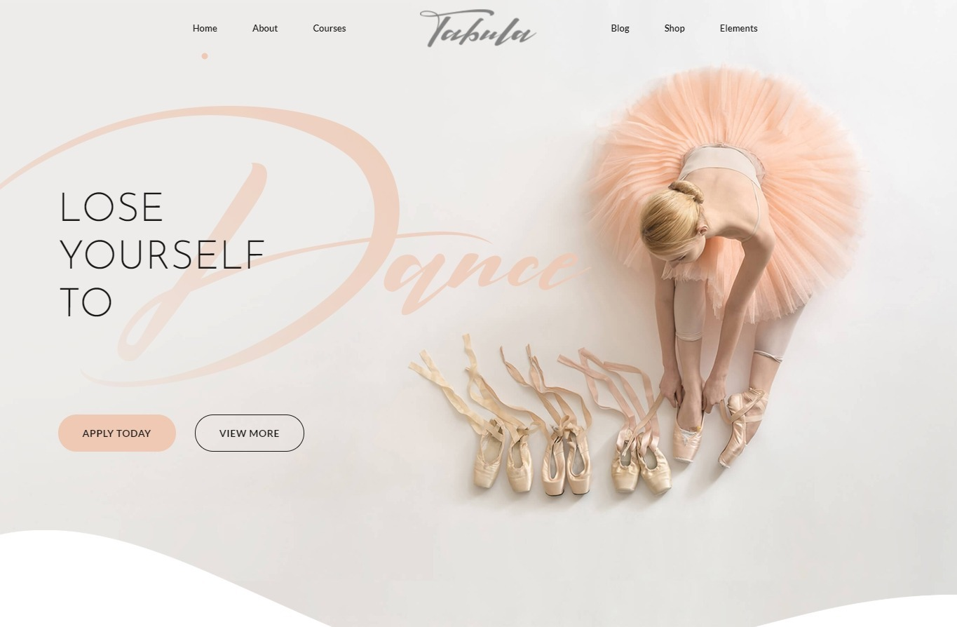 Tabula Ballet Academy WordPress Theme