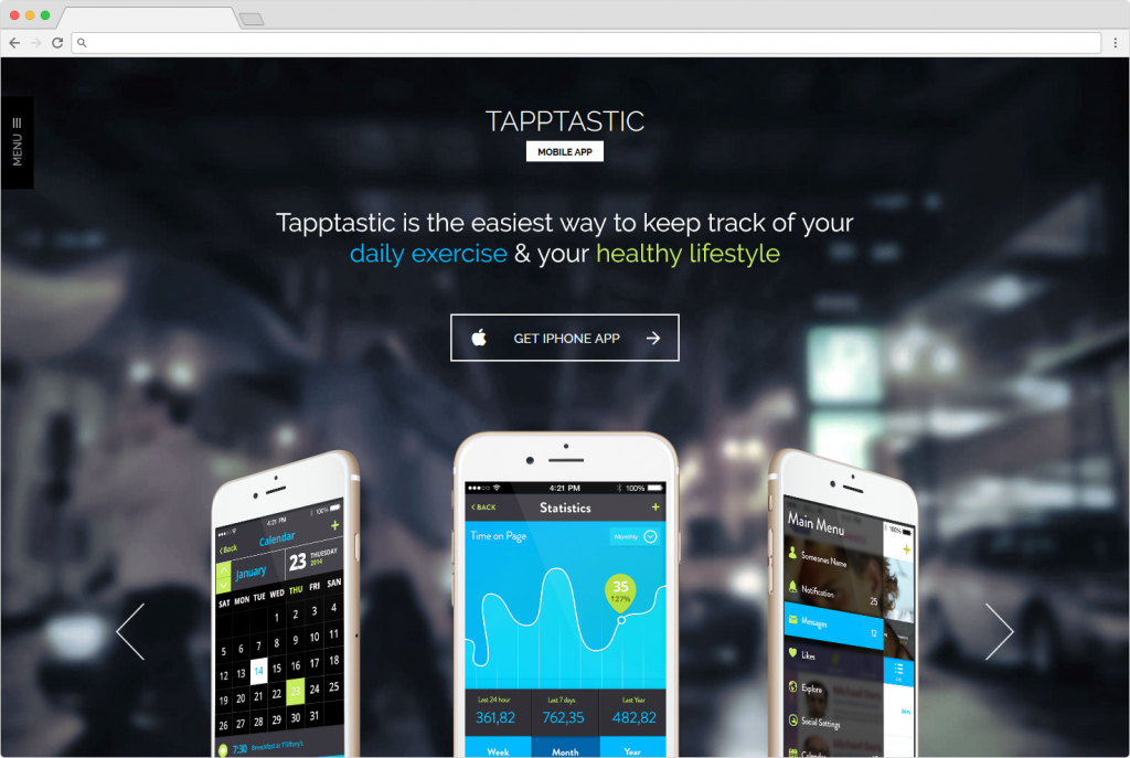 Tapptastic WordPress Startup Theme For Landing Pages