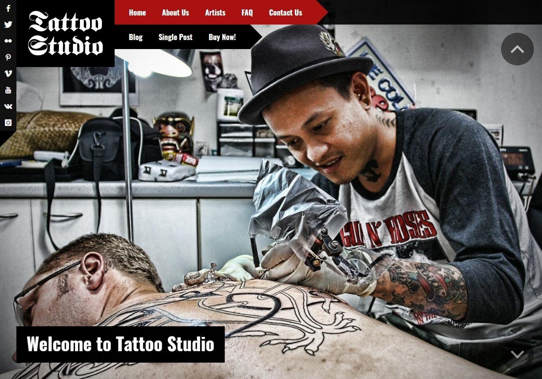 Tattoo Studio WordPress Tattoo Artist Theme
