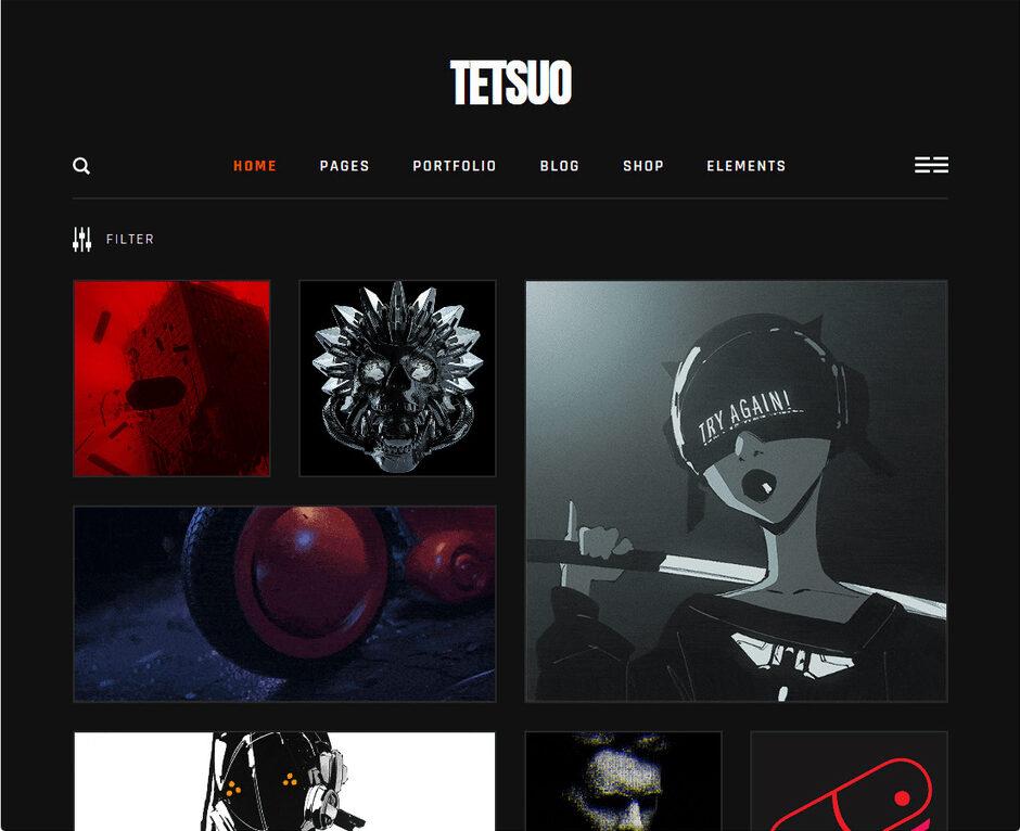 Tetsuo WordPress Theme
