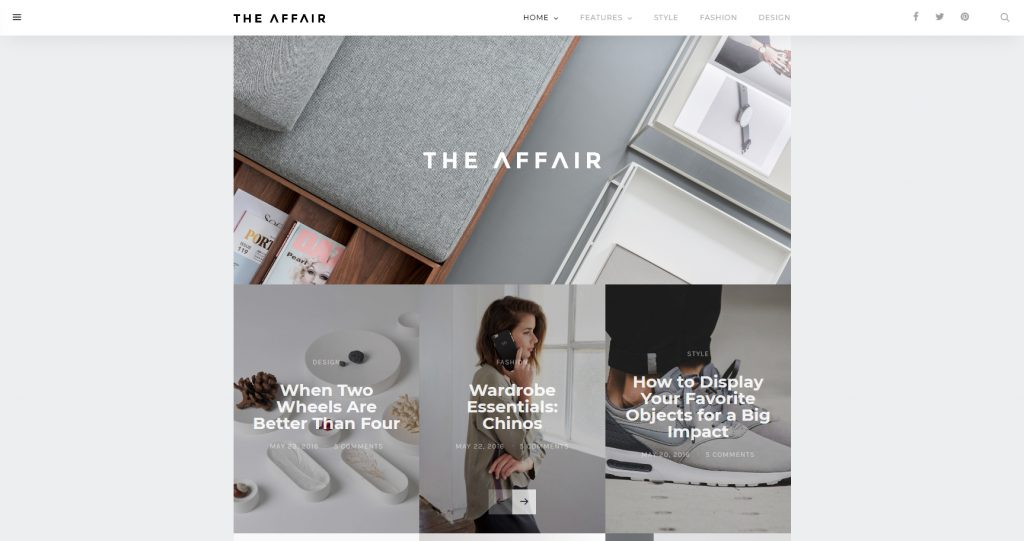 The Affair Clean And Bright WordPress Magazine Theme
