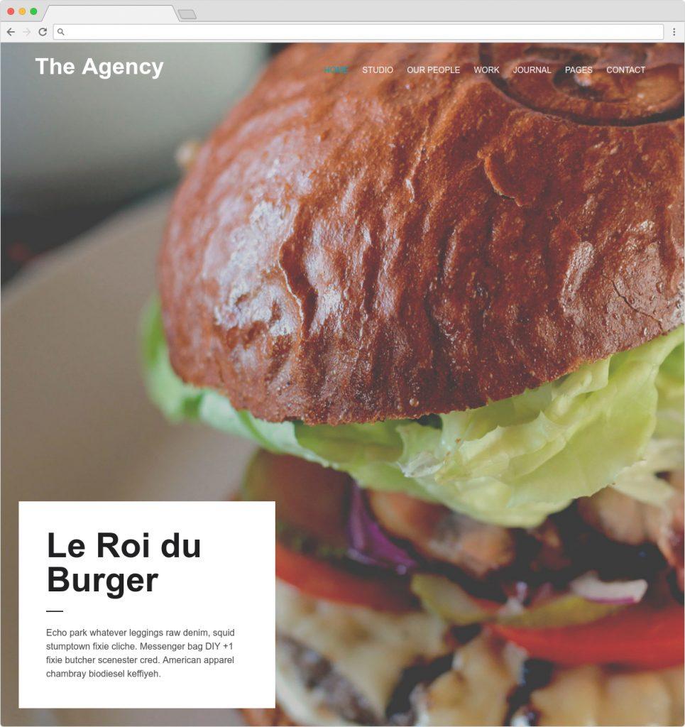The Agency Beautiful WordPress Typography Portfolio Theme