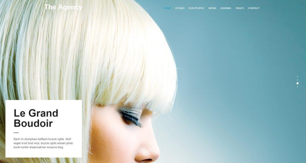 The Agency Flat Typography Centered WordPress Theme
